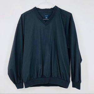 IZOD Blue Nylon Pullover Jacket